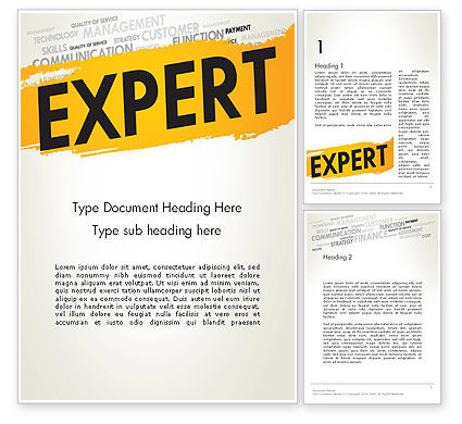 Business Expert Word Template, 13458, Consulting — PoweredTemplate.com