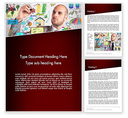 Ingenious Word Template, 13475, Business Concepts — PoweredTemplate.com