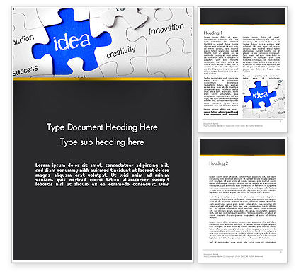 Imagination Marketing Word Template, 13478, Business Concepts — PoweredTemplate.com
