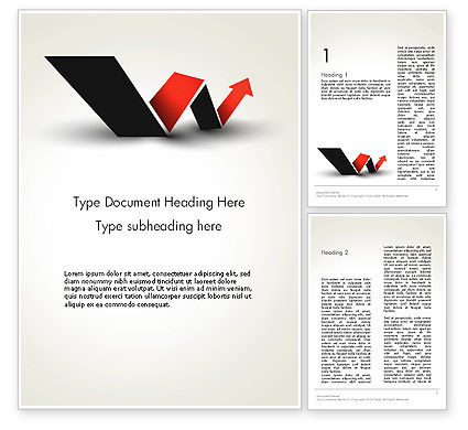 Rising Arrow Shaped Like Letter W Word Template, 13483, Business Concepts — PoweredTemplate.com