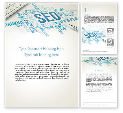 SEO Marketing Word Template, 13500, Careers/Industry — PoweredTemplate.com