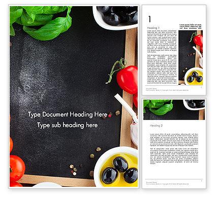 Food & Beverage: Fresh Ingredients Word Template #13510