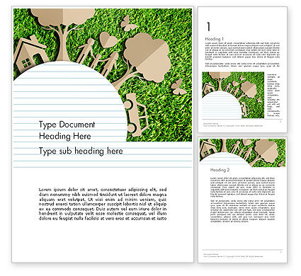 Ecosystem Word Template, 13511, Nature & Environment — PoweredTemplate.com
