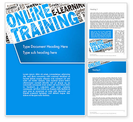 Education & Training: Online Training Word Cloud Word Template #13515