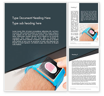 Smartwatch Word Template, 13526, Technology, Science & Computers — PoweredTemplate.com