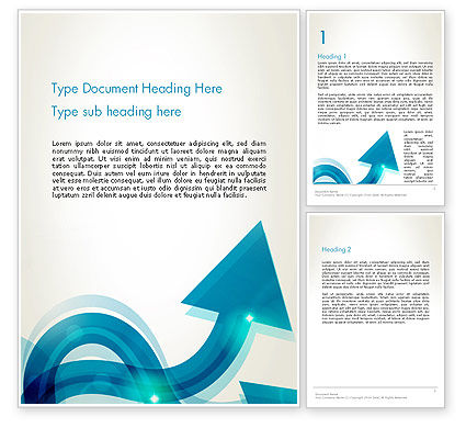 Wavy Arrows Word Template, 13530, Business Concepts — PoweredTemplate.com