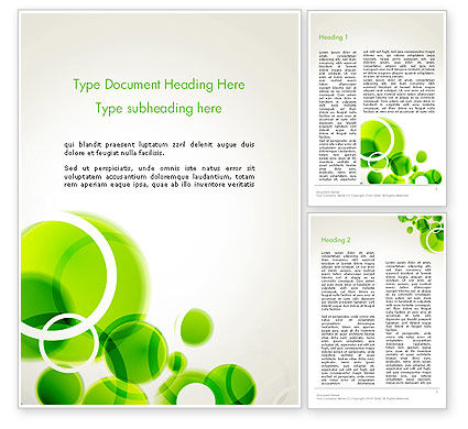 Abstract/Textures: Green Circles Abstract Word Template #13534