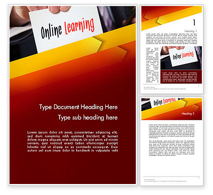 Online Learning Services Word Template