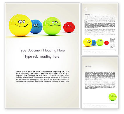 Art & Entertainment: 3D Emotions Word Template #13567