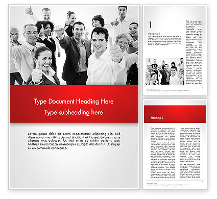 Happy Clients Word Template, 13570, People — PoweredTemplate.com