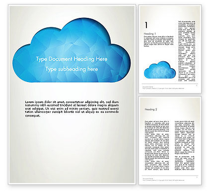 Careers/Industry: Blue Cloud Word Template #13574