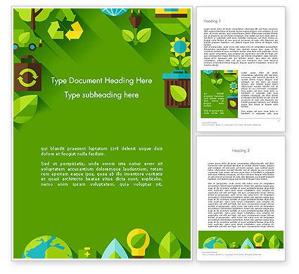 Nature & Environment: Green Duurzaamheid Word Template #13580
