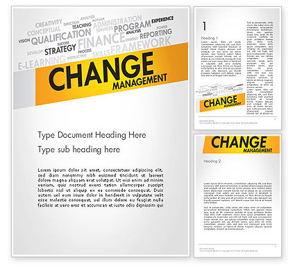 Business Concepts: Change Management Word Template #13590