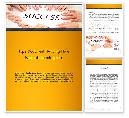 Working for Success Word Template, 13615, Business Concepts — PoweredTemplate.com