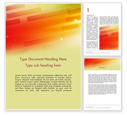 Abstract/Textures: Abstrakter roter orange diagonaler glühender streifen Word Vorlage #13621