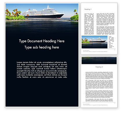 Cruise Ship Word Template
