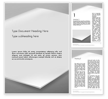 Abstract/Textures: Blank Brochure on White Background Word Template #13632
