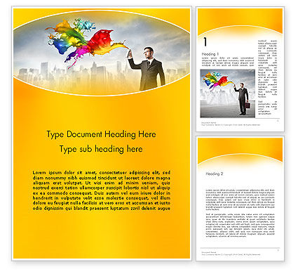 Corporate Creative Word Template, 13660, Business Concepts — PoweredTemplate.com