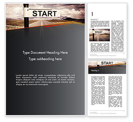 Business Concepts: A Big Start Word Template #13664