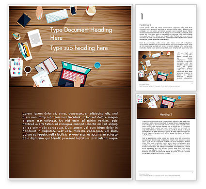 Conference Top View Word Template, 13679, Business — PoweredTemplate.com