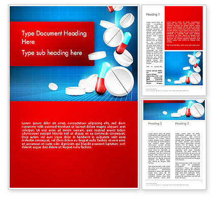 Medical: Medical Background Word Template #13680