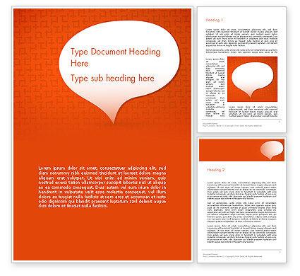 Abstract/Textures: Sprechblase auf orange hintergrund Word Vorlage #13683