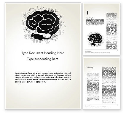 Education & Training: Brain Training Concept Word Template #13685