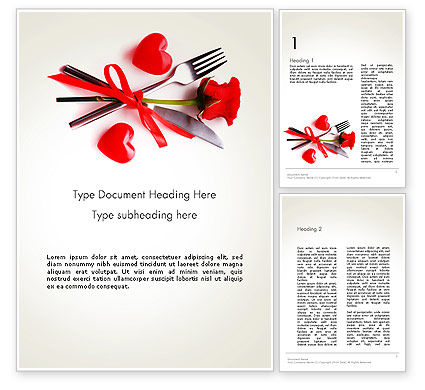 Romantic Dinner Invitation Word Template, 13688, Holiday/Special Occasion — PoweredTemplate.com