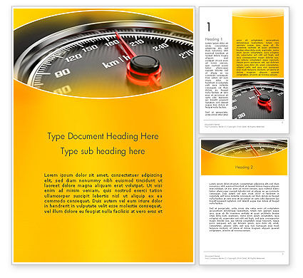 Dangerous Speeding Word Template, 13693, Cars/Transportation — PoweredTemplate.com