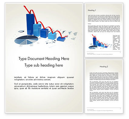 Recession Chart Word Template, 13701, Financial/Accounting — PoweredTemplate.com