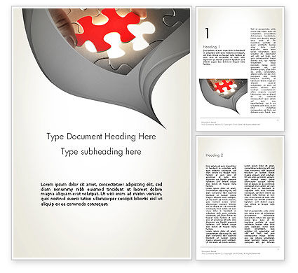 Missing Piece Word Template, 13707, Business Concepts — PoweredTemplate.com