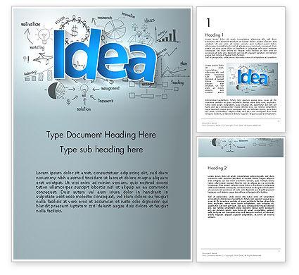 Big Ideas Inspiration Word Template, 13712, Business Concepts — PoweredTemplate.com