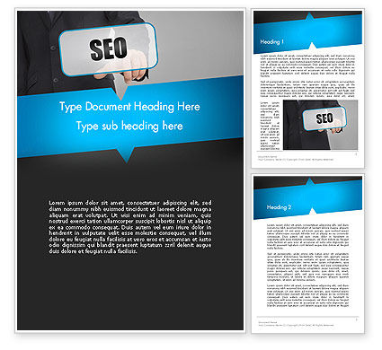 Careers/Industry: SEO Solution Word Template #13714