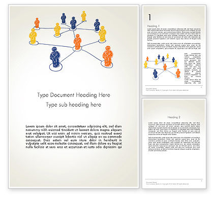 People Network Connections Word Template, 13732, Business Concepts — PoweredTemplate.com