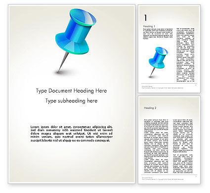 Blue Pin Word Template, 13734, Business Concepts — PoweredTemplate.com