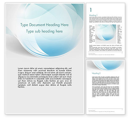 Abstract/Textures: Water Drop Themed Abstract Word Template #13738