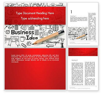 Business Doodles Word Template, 13748, Business — PoweredTemplate.com