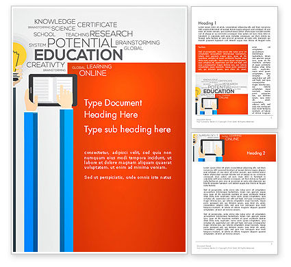 Education & Training: Global Online Learning Word Template #13750