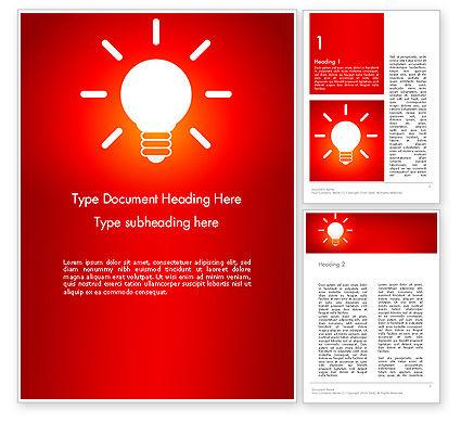 Good Creative Idea Word Template, 13759, Business Concepts — PoweredTemplate.com