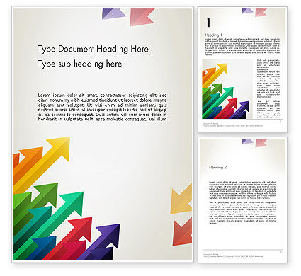 Abstract/Textures: Color Arrows Pointing Towards Each Other Word Template #13765