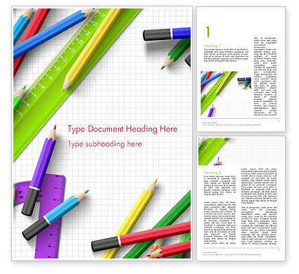 Pencils and Rulers Word Template