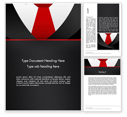 Formal Suit Word Template, 13774, Business — PoweredTemplate.com