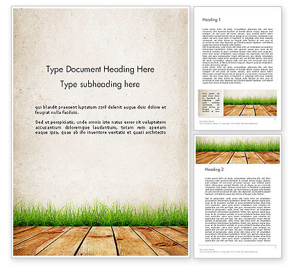 Wooden Floor Terrace Word Template, 13775, Careers/Industry — PoweredTemplate.com