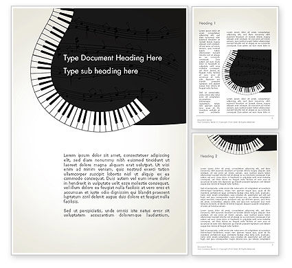 Art & Entertainment: Guitar and Piano Art Word Template #13778