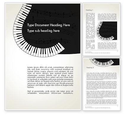 Art & Entertainment: Gitarre und klavier kunst Word Vorlage #13778