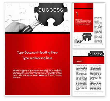 Magnifying Glass Searching Missing Puzzle Piece Word Template, 13780, Education & Training — PoweredTemplate.com