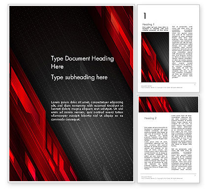 Abstract/Textures: Tech Fast-Moving Abstract Word Template #13786