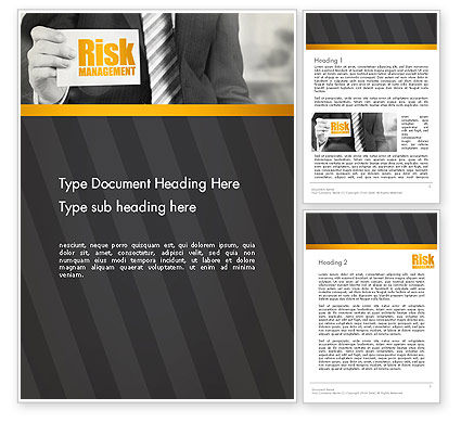 Consulting: Risk Management Services Word Template #13793