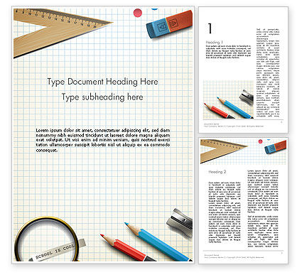 Education & Training: Welcome Back To School Word Template #13795
