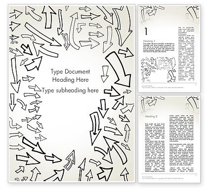 Abstract/Textures: Arrows Pointing in Different Directions Word Template #13797